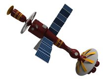 Model of an artificial satellite Royalty Free Stock Image