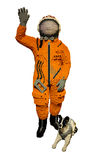 Model astronaut and dog Stock Image