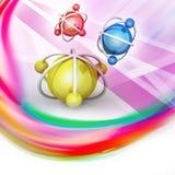Model atom Zdjęcie Royalty Free