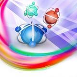 Model atom Zdjęcie Stock