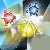 Model atom Zdjęcia Stock