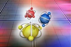 Model atom Obraz Stock