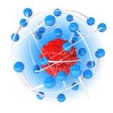 Model atom Obrazy Stock
