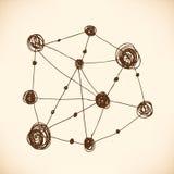 Model of atom. Atomic lattice. Structure Stock Images