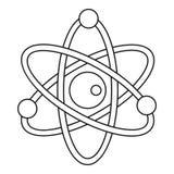 Model atom ikona, konturu styl Obraz Royalty Free