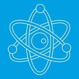 Model atom ikona, konturu styl Fotografia Royalty Free