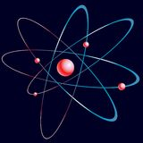 Model of the atom. Royalty Free Stock Photography