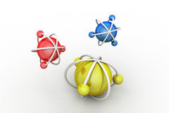Model of atom Royalty Free Stock Photography