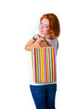 Model with bag Stock Images