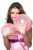 Model with balls Royalty Free Stock Photography
