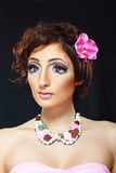 Model with barbie make-up Royalty Free Stock Image