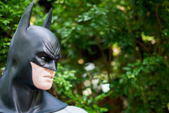 Model of Batman in The Garden. Chiang Mai , Thailand - Oct 13 : Close up Model of Batman in The Graden on October 13 , 2016 in Chiang Mai, Thailand royalty free stock images