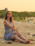 Model on the Beach Stock Photography