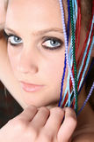 Model with beads Royalty Free Stock Photos