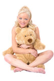 Model and Bear Stock Photo