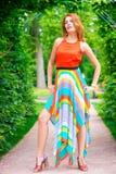 Model in a beautiful dress posing Royalty Free Stock Image