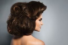 Model with beautiful hairstyle royalty free stock photo