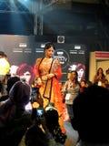 Model at beauty expo. Model at professional beauty expo,mumbai date 6th October 2015 stock photos