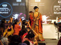 Model at beauty expo. Model at Professional Beauty Expo, Mumbai. Date- 6th October 2015 royalty free stock photo