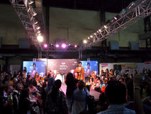 Model at Beauty Expo. Venue- Professional Beauty Expo, Mumbai Date - 6th October 2015 royalty free stock photos