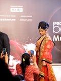 Model at Beauty Expo. Venue- Professional Beauty Expo, Mumbai Date - 6th October 2015 stock image