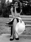 Model on Bench royalty free stock photography