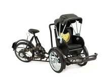 Model of a bicycle of a trishaw Royalty Free Stock Images