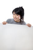 Model with Billboard Stock Photography