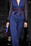 Model Binx Walton walk the runway at the Diane Von Furstenberg fashion show during MBFW Fall 2015 Stock Images