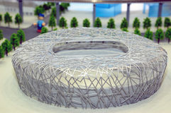 Model of bird's nest stadium Royalty Free Stock Images