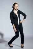 Model in black Royalty Free Stock Photos