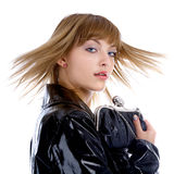 Model in black coat Stock Photography