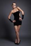 Model in black dress Stock Images