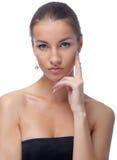 Model in black dress Royalty Free Stock Photos