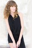 Model in black dress Stock Photo