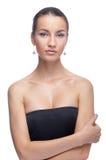 Model in black dress Stock Image