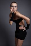 Model in black dress Royalty Free Stock Image