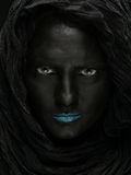 Model with black face. Stock Photos