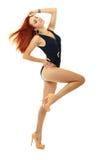 Model in black swimsuit Stock Image