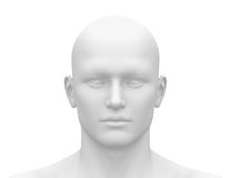 Blank White Male Head - Front view Stock Image