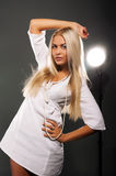Model with blond hair Royalty Free Stock Photography