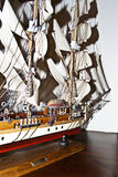 Model of a boat. An all wooden model of the Clipper boat Royalty Free Stock Image