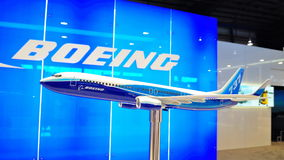 Model of Boeing 737-800 at Airshow Stock Photos