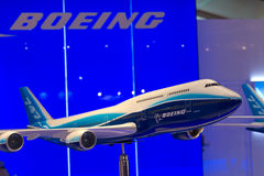 Model of Boeing 747-8 Royalty Free Stock Images