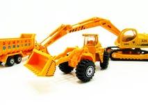 Model bouwvoertuigen stock afbeeldingen