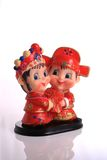Model of bride and bridegroom. Model of chinese tradition bride and bridegroom Stock Image
