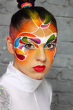 Model with bright creative make up Royalty Free Stock Image