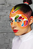 Model with bright creative make up Royalty Free Stock Images
