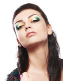 Model with bright make up Royalty Free Stock Image