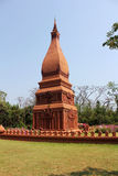 Model of brown pagoda. In Thailand Stock Photography